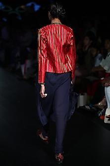 Multi Stripe Colored Jacket by Rajesh Pratap Singh