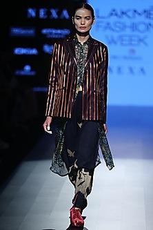 Multi Striped Jacket by Rajesh Pratap Singh