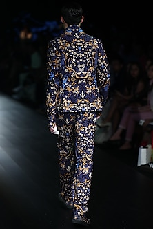 Navy Tiger Printed Suit
