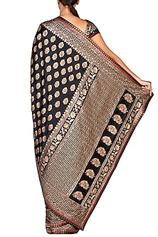 Black Embroidered Saree Set by Ri Ritu Kumar