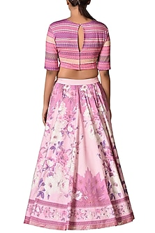 Pastel Pink Embroidered Lehenga Set by Ri Ritu Kumar