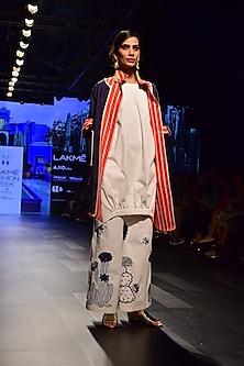White Circular Hem Willow Dress by RARA AVIS