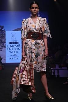Mullticolor Jungle Print Dress by Rara Avis