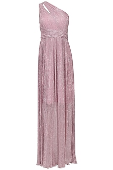 Shimmer Lilac One Shoulder Gown
