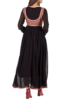 Black Printed Anarkali Kurta by Ritu Kumar