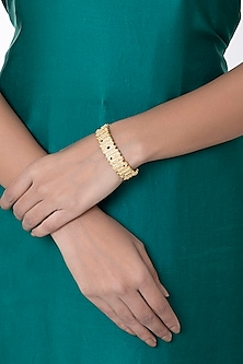 Gold Plated Textured Cuff