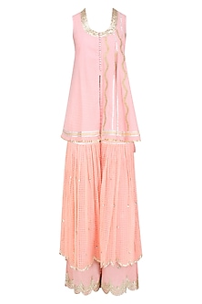 Pink Gota Patti Work Kurta and Sharara Set