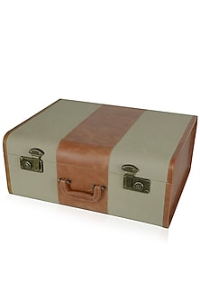 Beige and Tan Striped Solid Trunk by Samant Chauhan Accessories