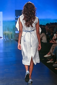 White Frill Dress by Sneha Arora