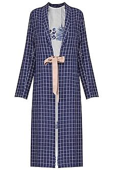Indigo Checkered Jacket