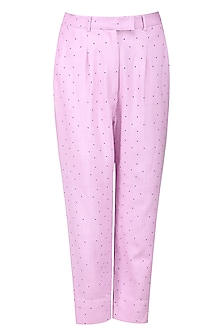 Lilac Polka Dots Trousers