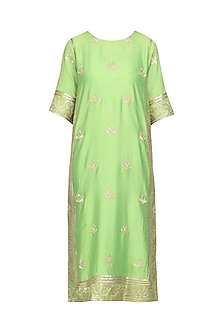 Mint Green Embroidered Kurta with Pants