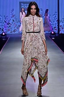 Ivory Handkerchief Dress by Soup by Sougat Paul