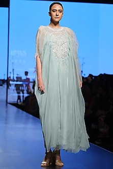 Mint Embroidered Dress by Samant Chauhan