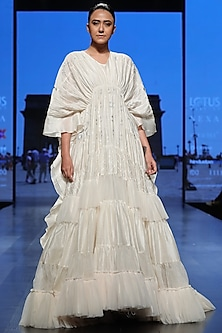 Off White Kaftan Dress by Samant Chauhan