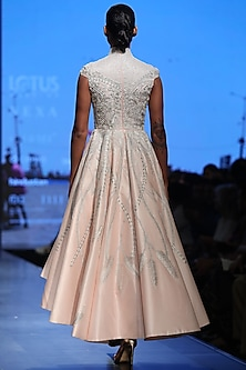 Pink High-Low Gown by Samant Chauhan