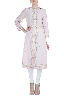Pink Embroidered Kurta by Samant Chauhan