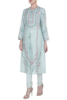 Green Embroidered Kurta by Samant Chauhan