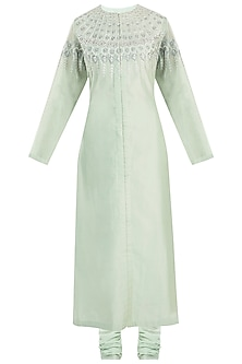 Mint Green Embroidered Kurta Set