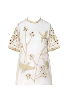 Nude Applique Work Tee