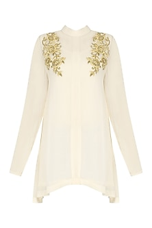 Cream Embroidered Tunic