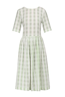 White and Green Soho Dress