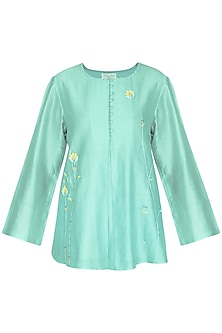 Powder Blue Embroidered Tunic
