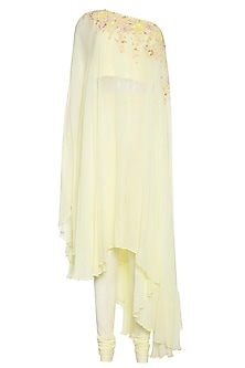 Lemon one shoulder tunic with pants