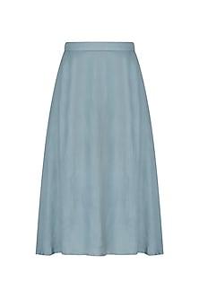 Powder Blue Midi Skirt by Shiori