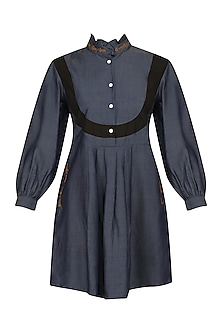Navy Blue Kirsten Yoke Shift Dress