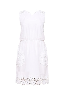 White Kew Lace Shift Dress