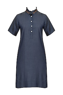 Blue Belmont Shift Dress