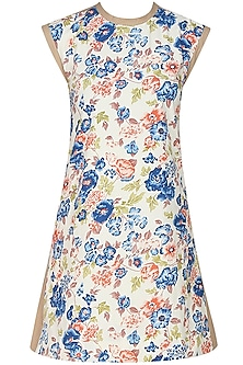 Floral printed alice A line frill shift dress