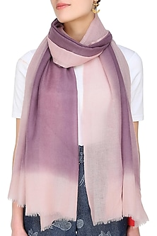 Peach and purple dip dyed stole by Shingora