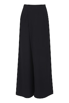 Black Overlapped Culottes