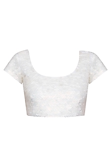 White Sequins Wax Blouse