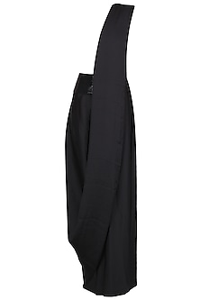 Black Pre Draped High Leg Saree