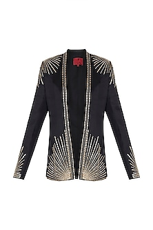 Black Embroidered Jacket by Shilpa Reddy
