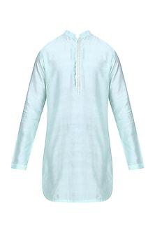 Light Aqua Chanderi Silk Kurta Silk by Shiraz