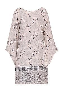 Pink reversible bell sleeves dress