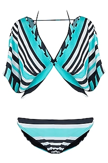 Mint striped bikini set