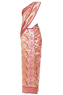 Gold Handwoven Kadhua Banarsi Saree Set