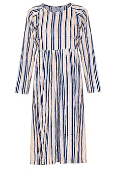 White printed striped dress