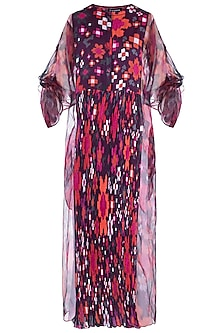 Multi Colored Floral Printed Kurta With Inner