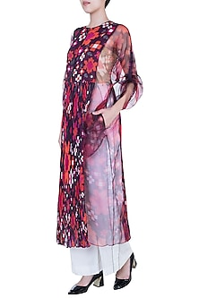 Multi Colored Floral Printed Kurta With Inner by Saaksha & Kinni