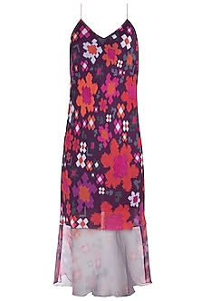 Multi Colored Floral Printed Slip Dress