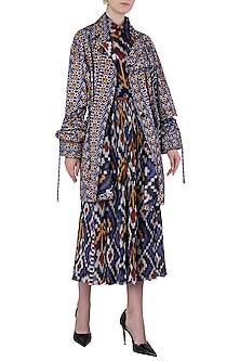 Multi-Coloured Ikkat Print Blouse by Saaksha & Kinni