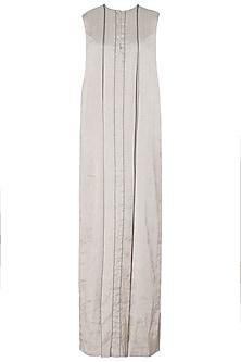 Silver Box Pleated Maxi Dress