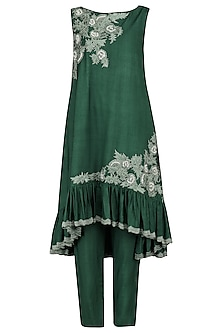 Emerald Embroidered Kurta with Pants
