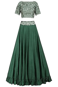 Emerald Embroidered Lehenga Set